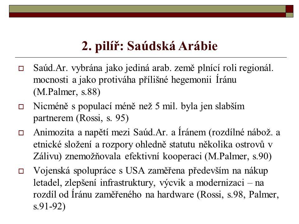 2. pilíř: Saúdská Arábie