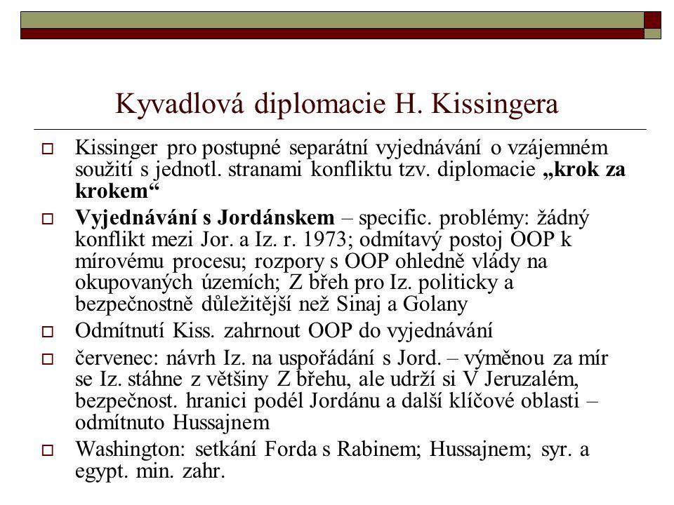 Kyvadlová diplomacie H. Kissingera
