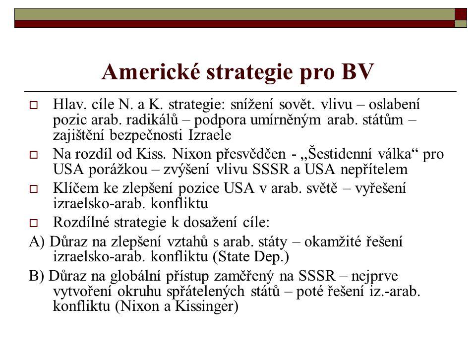 Americké strategie pro BV