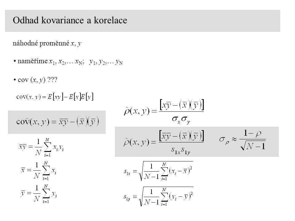 Odhad kovariance a korelace