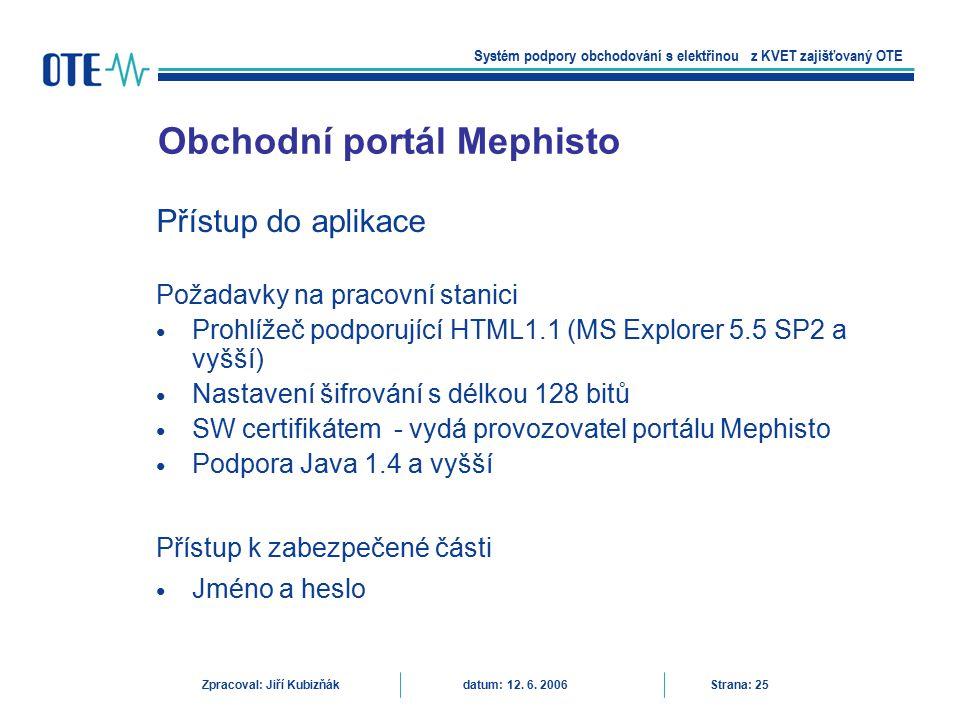 Obchodní portál Mephisto