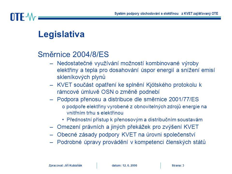 Legislativa Směrnice 2004/8/ES