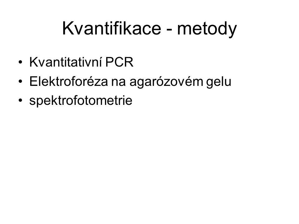 Kvantifikace - metody Kvantitativní PCR