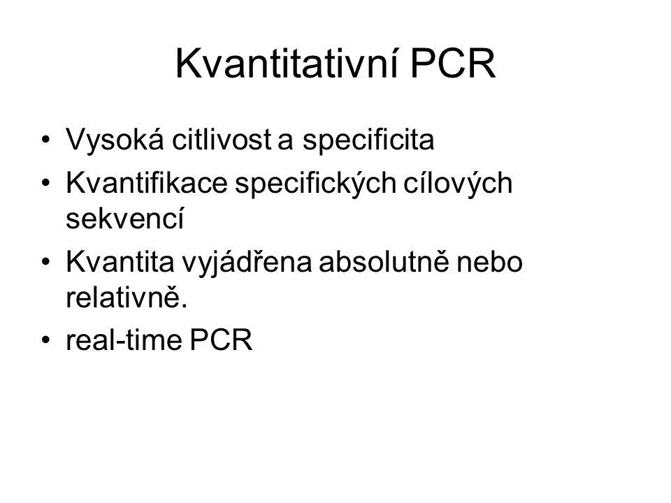Kvantitativní PCR Vysoká citlivost a specificita