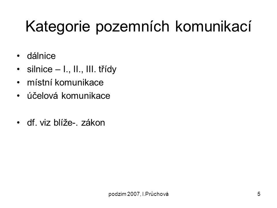 Kategorie pozemních komunikací