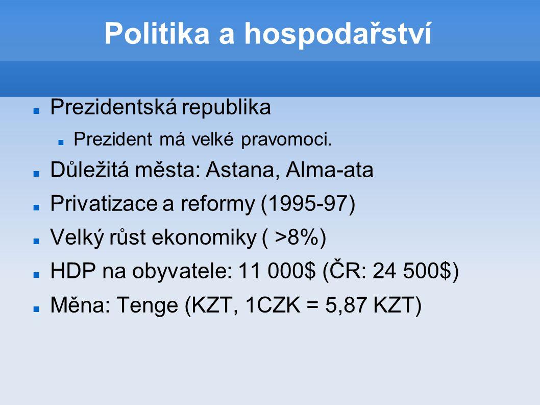 Politika a hospodařství