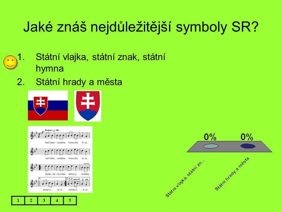 Jaké znáš nejdůležitější symboly SR