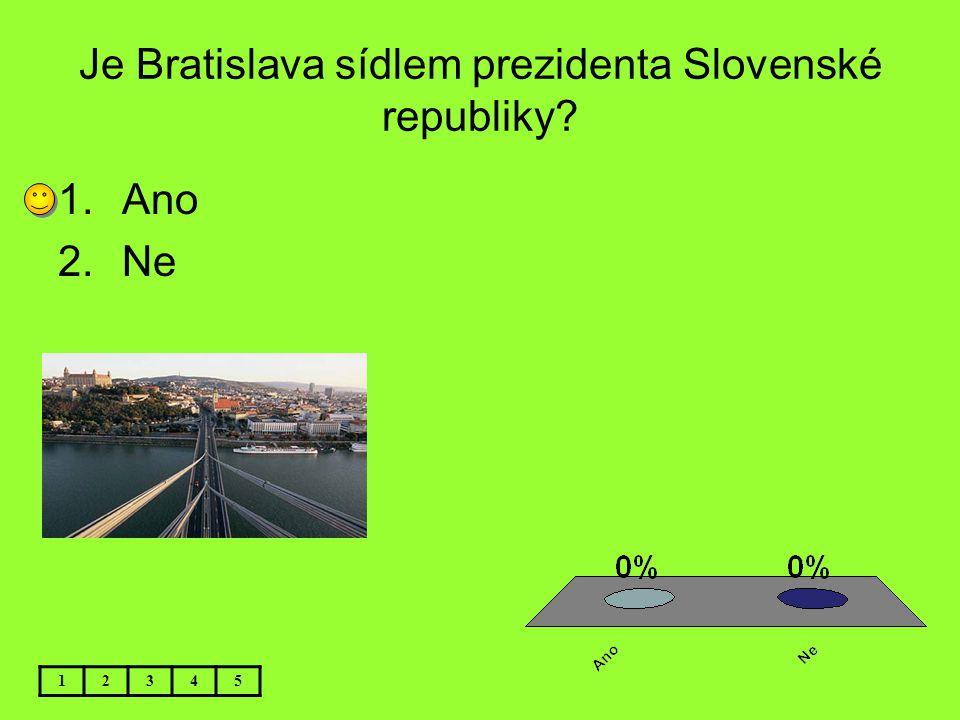 Je Bratislava sídlem prezidenta Slovenské republiky