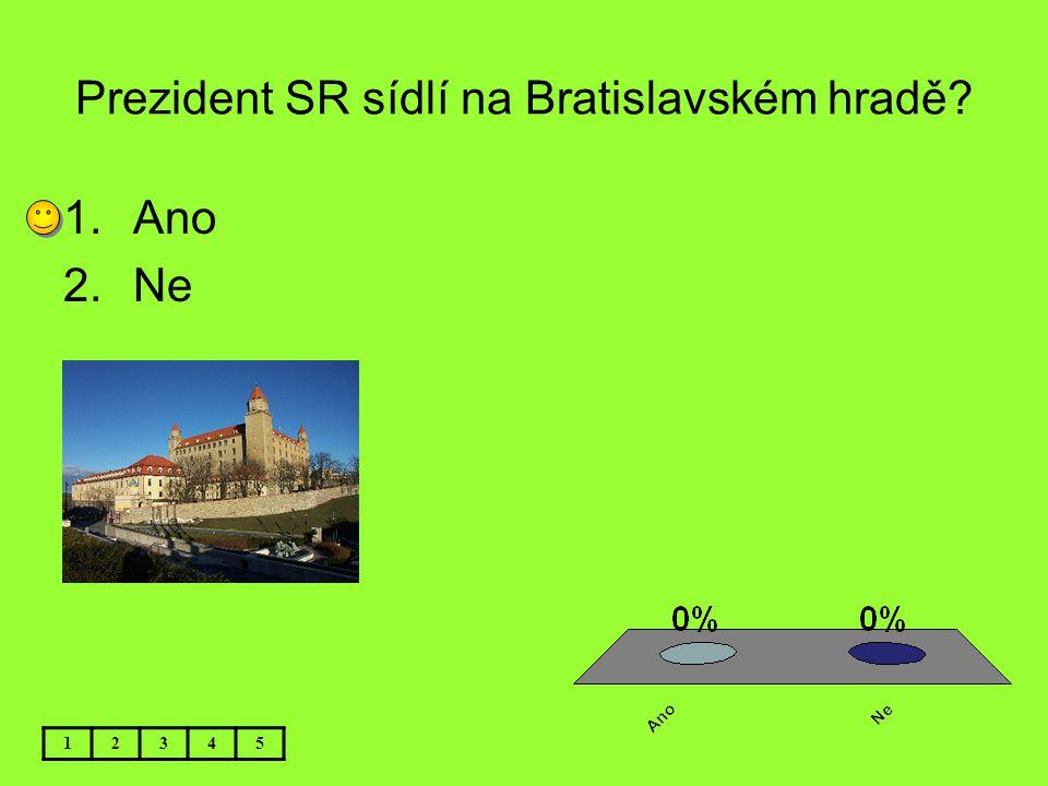 Prezident SR sídlí na Bratislavském hradě