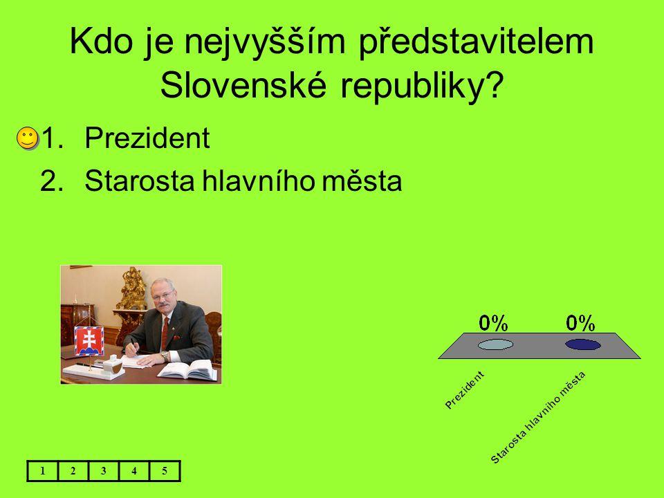 Kdo je nejvyšším představitelem Slovenské republiky