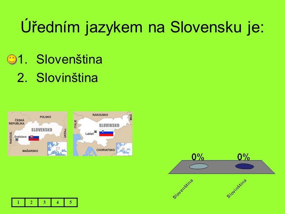 Úředním jazykem na Slovensku je:
