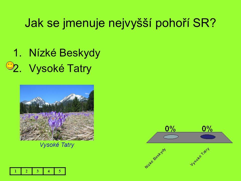 Jak se jmenuje nejvyšší pohoří SR