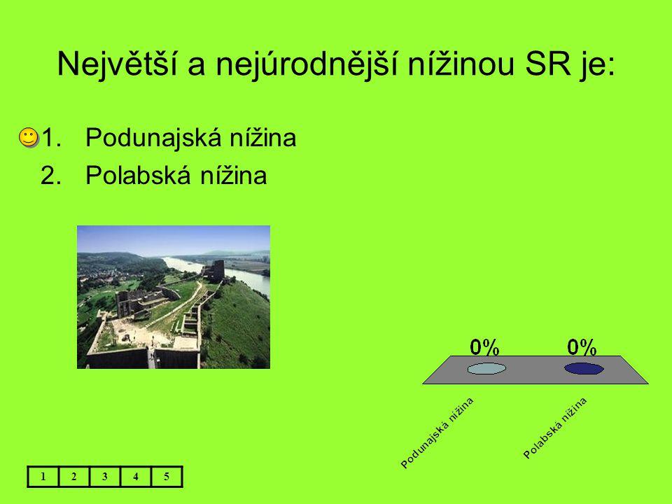 Největší a nejúrodnější nížinou SR je: