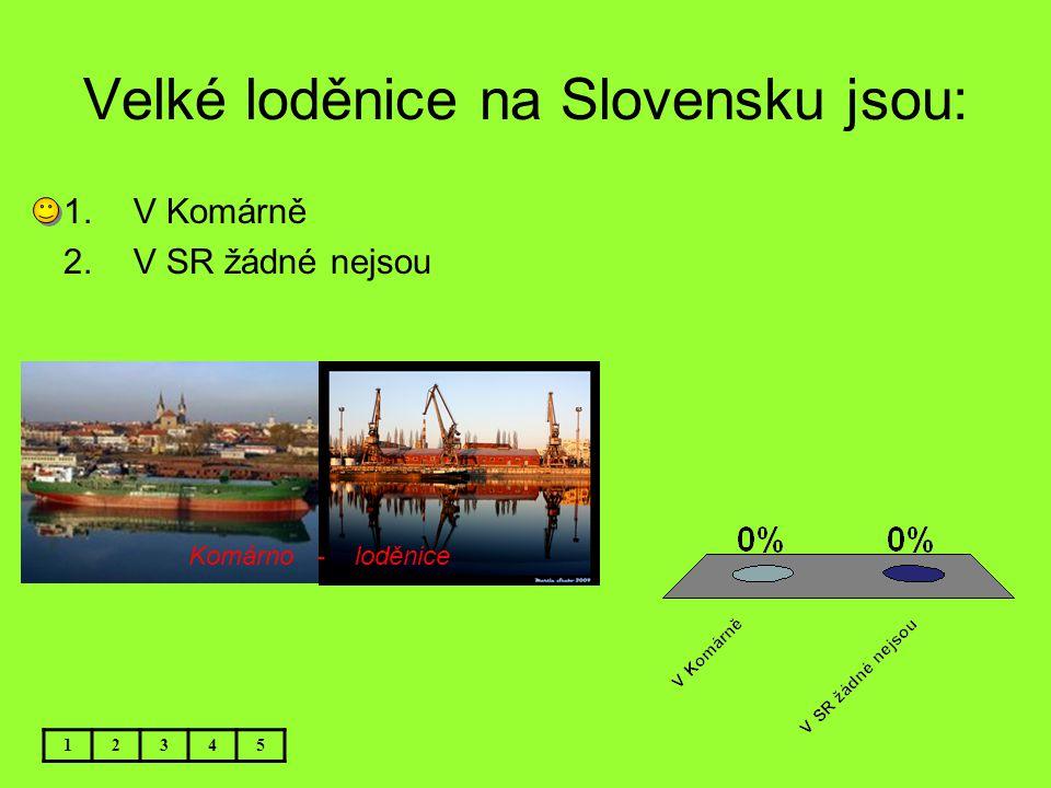 Velké loděnice na Slovensku jsou: