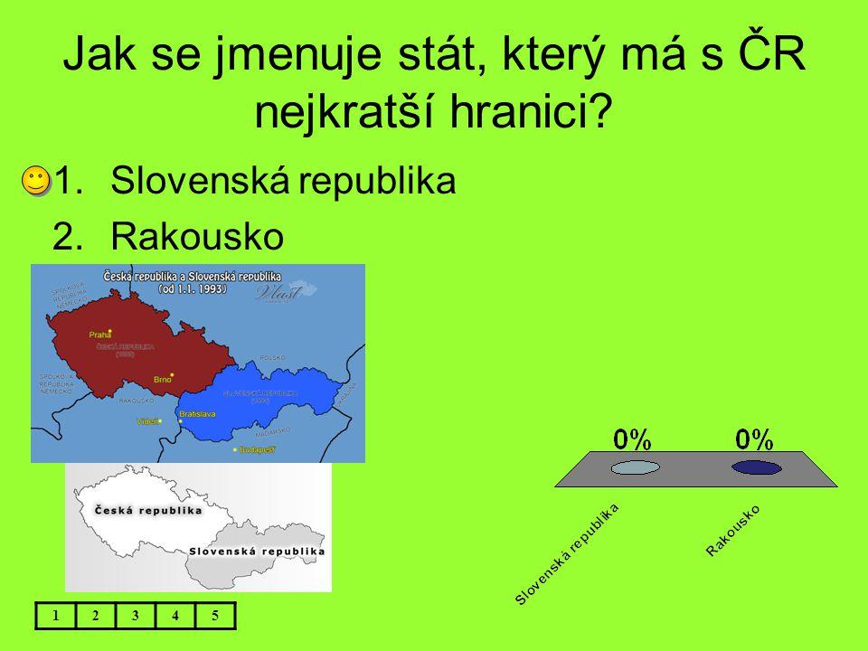 Jak se jmenuje stát, který má s ČR nejkratší hranici