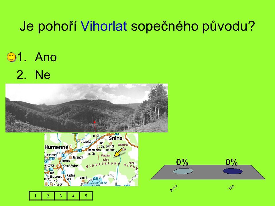 Je pohoří Vihorlat sopečného původu