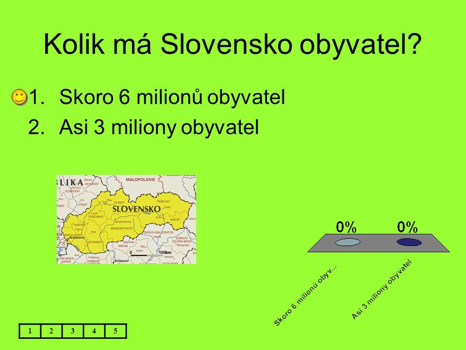 Kolik má Slovensko obyvatel