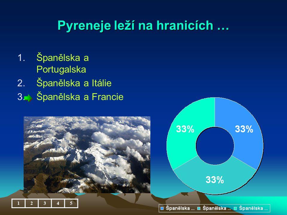 Pyreneje leží na hranicích …