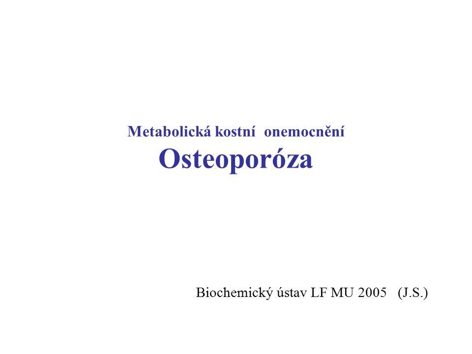 Metabolická kostní onemocnění Osteoporóza