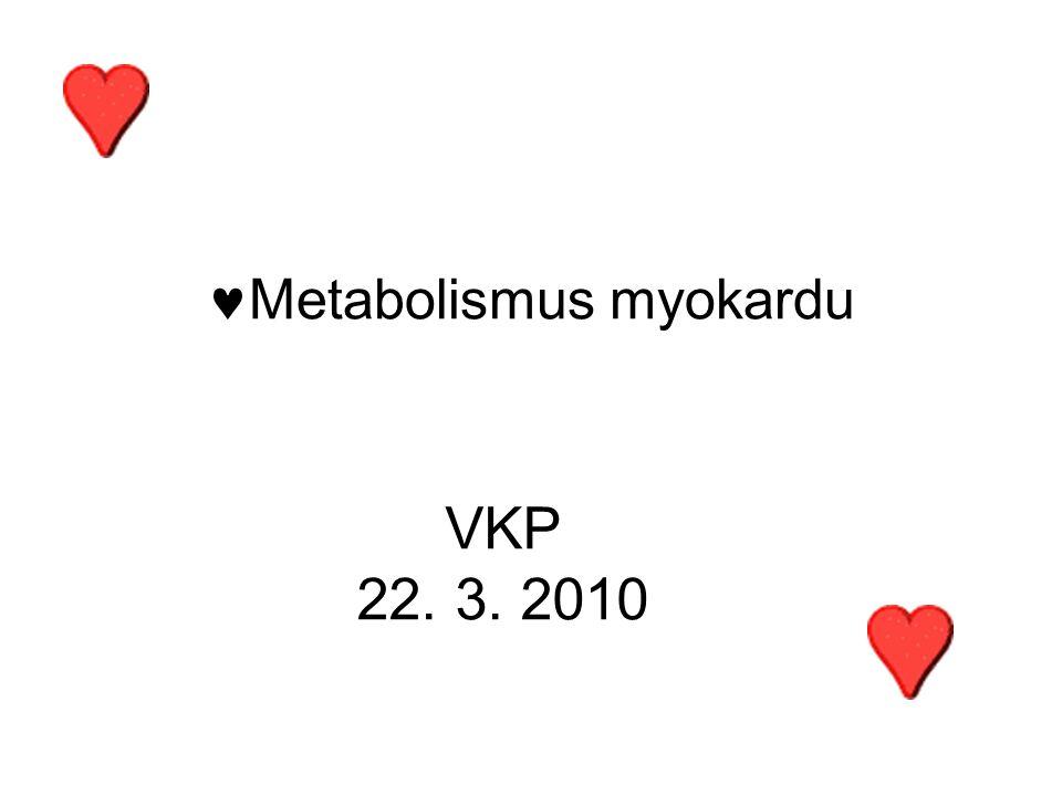 Metabolismus myokardu