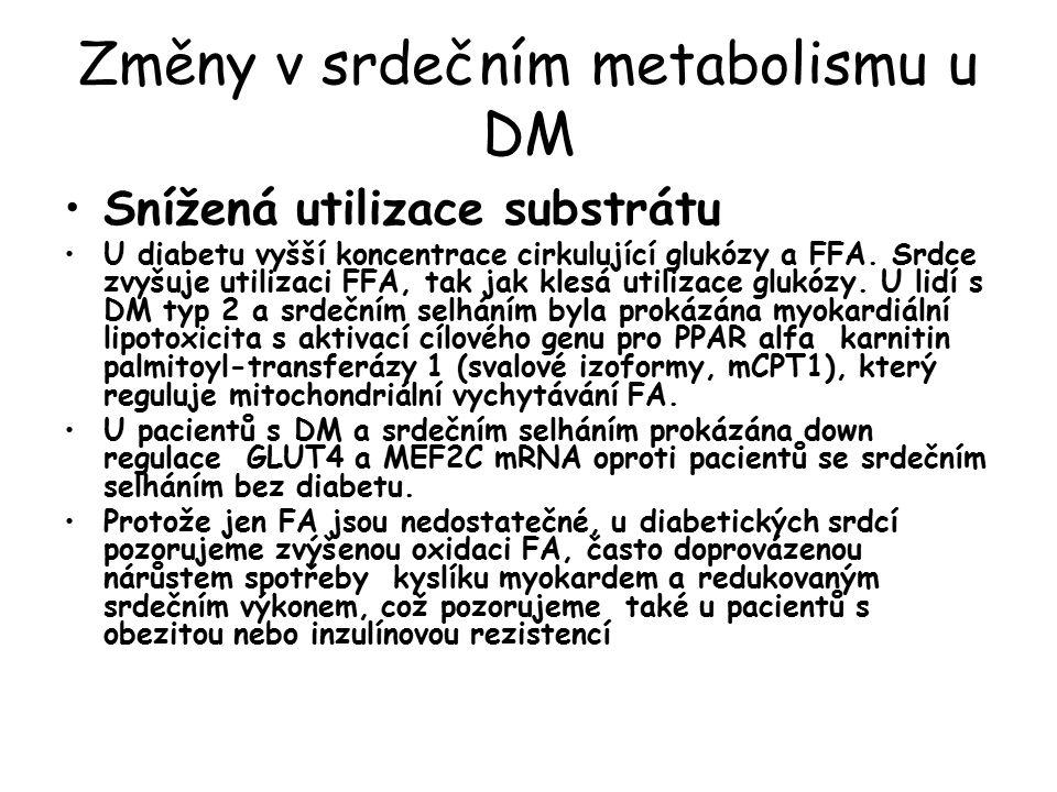 Změny v srdečním metabolismu u DM