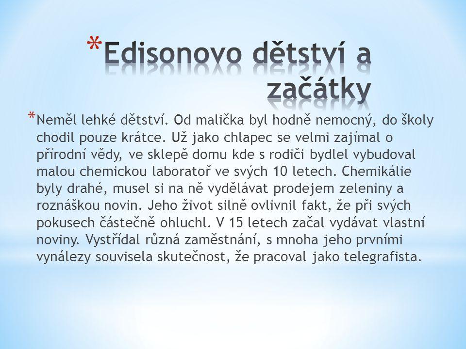 Edisonovo dětství a začátky