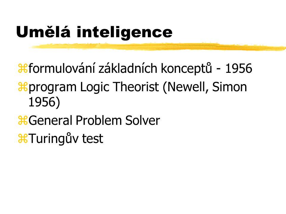 Umělá inteligence formulování základních konceptů - 1956