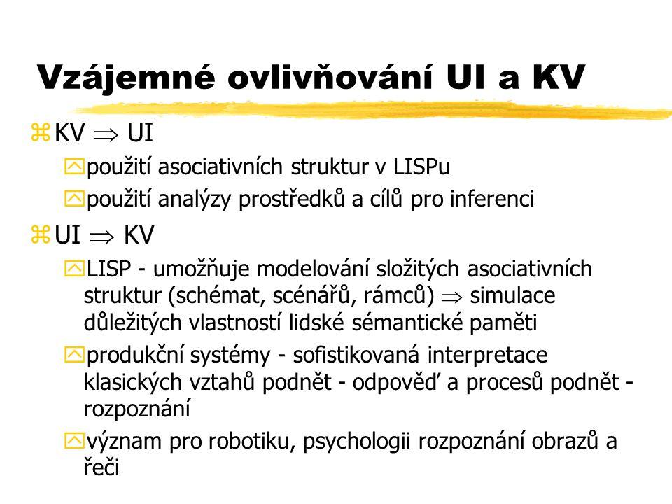 Vzájemné ovlivňování UI a KV