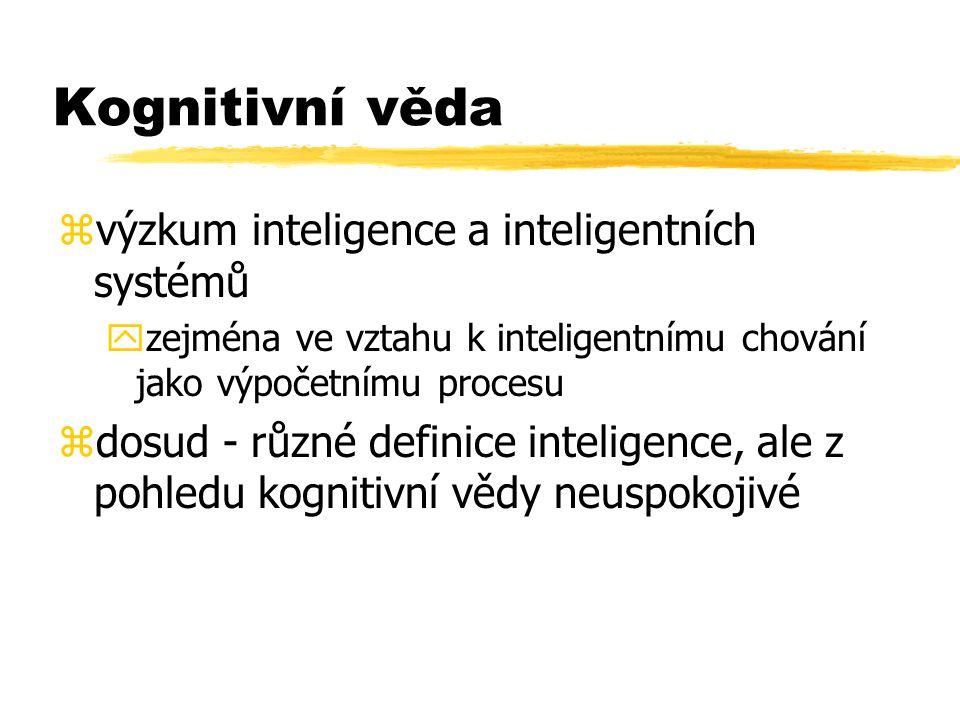 Kognitivní věda výzkum inteligence a inteligentních systémů