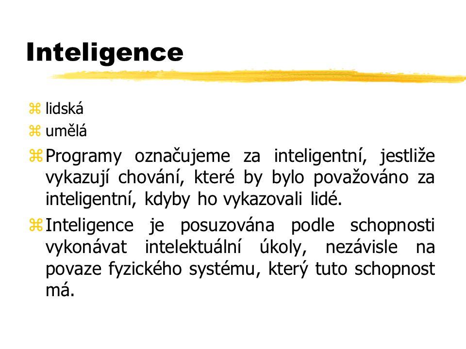 Inteligence lidská. umělá.