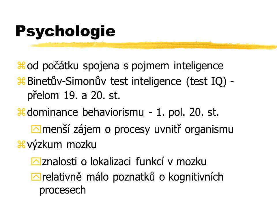 Psychologie od počátku spojena s pojmem inteligence
