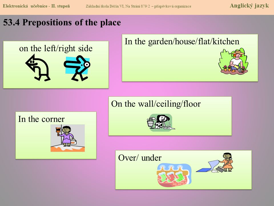 53.4 Prepositions of the place