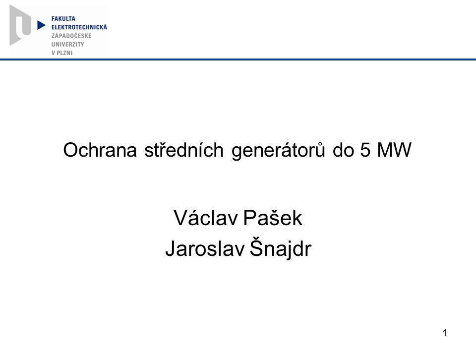 Ochrana středních generátorů do 5 MW