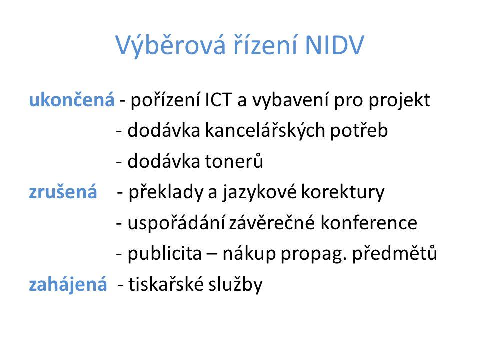 Výběrová řízení NIDV