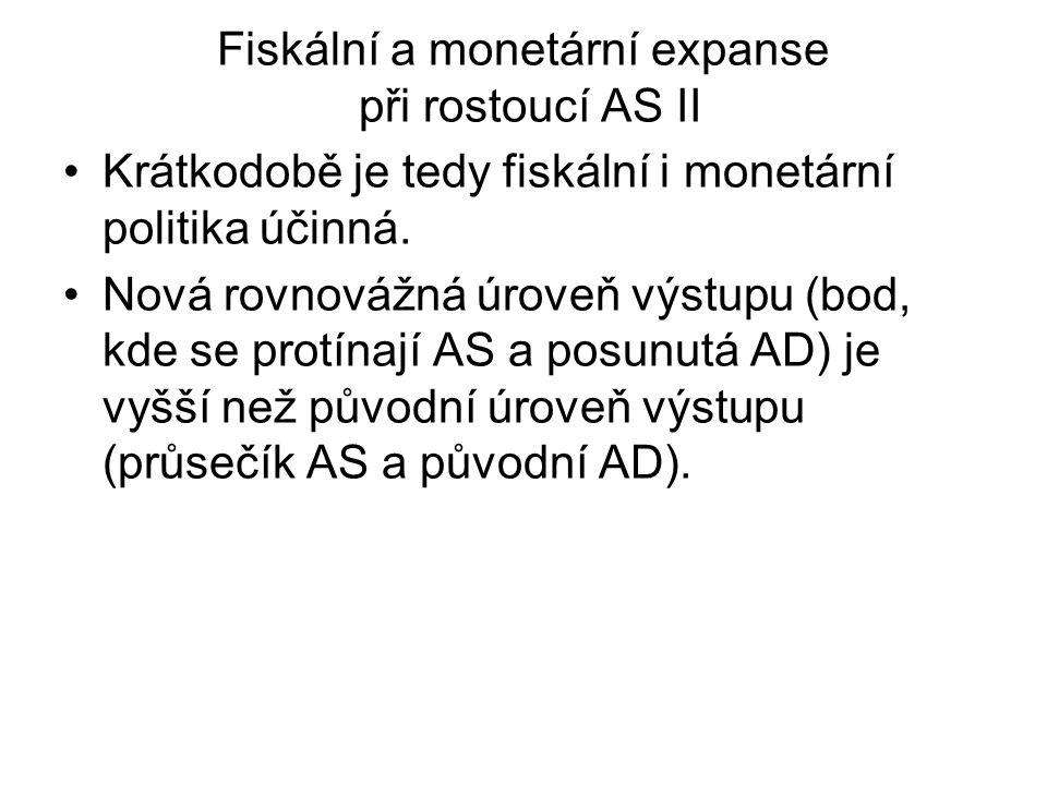 Fiskální a monetární expanse při rostoucí AS II