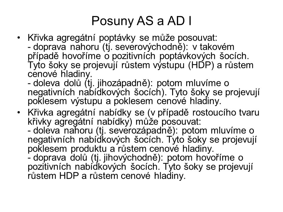 Posuny AS a AD I