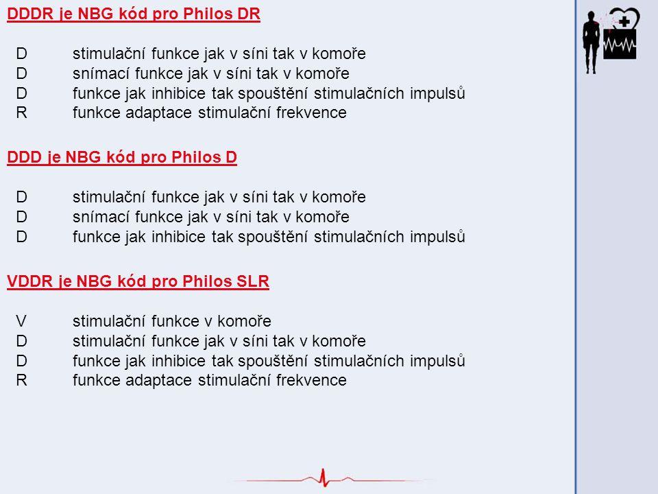 DDDR je NBG kód pro Philos DR