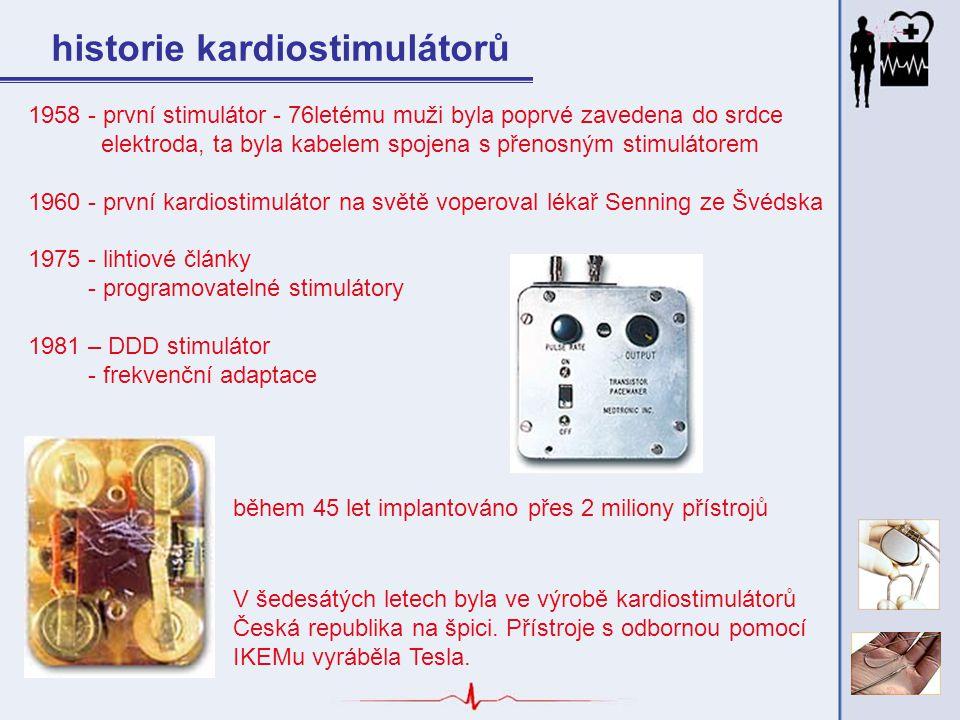 historie kardiostimulátorů