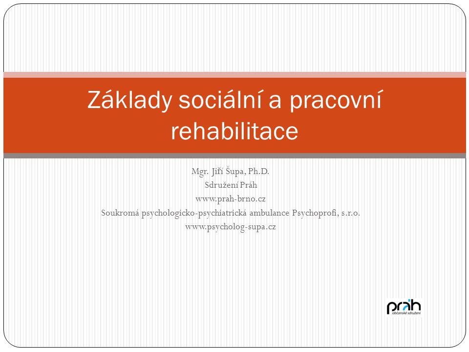 Základy sociální a pracovní rehabilitace