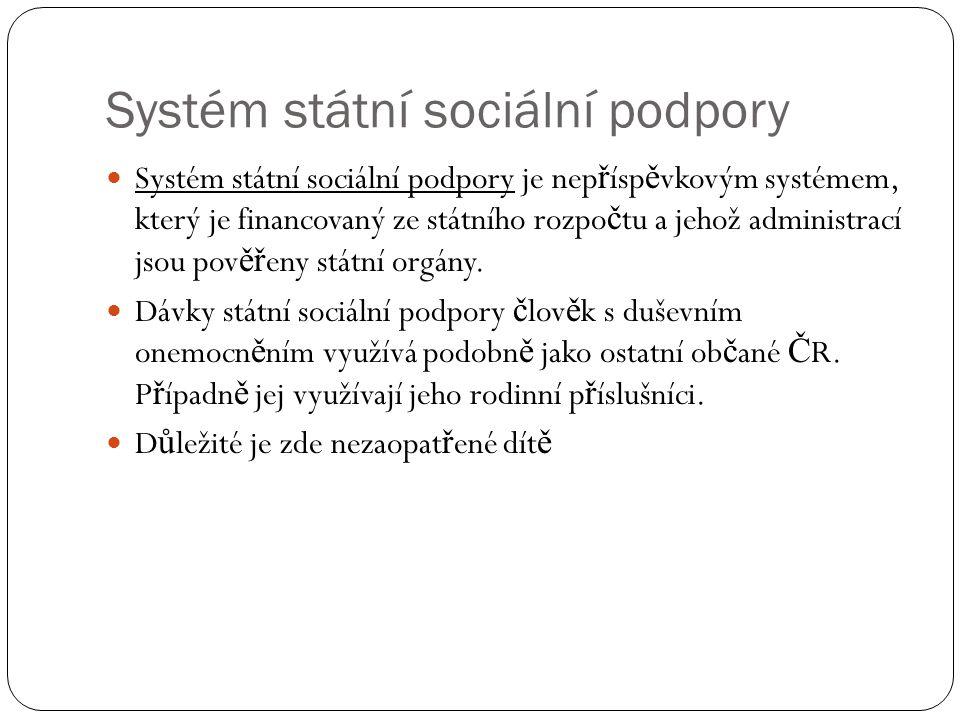 Systém státní sociální podpory