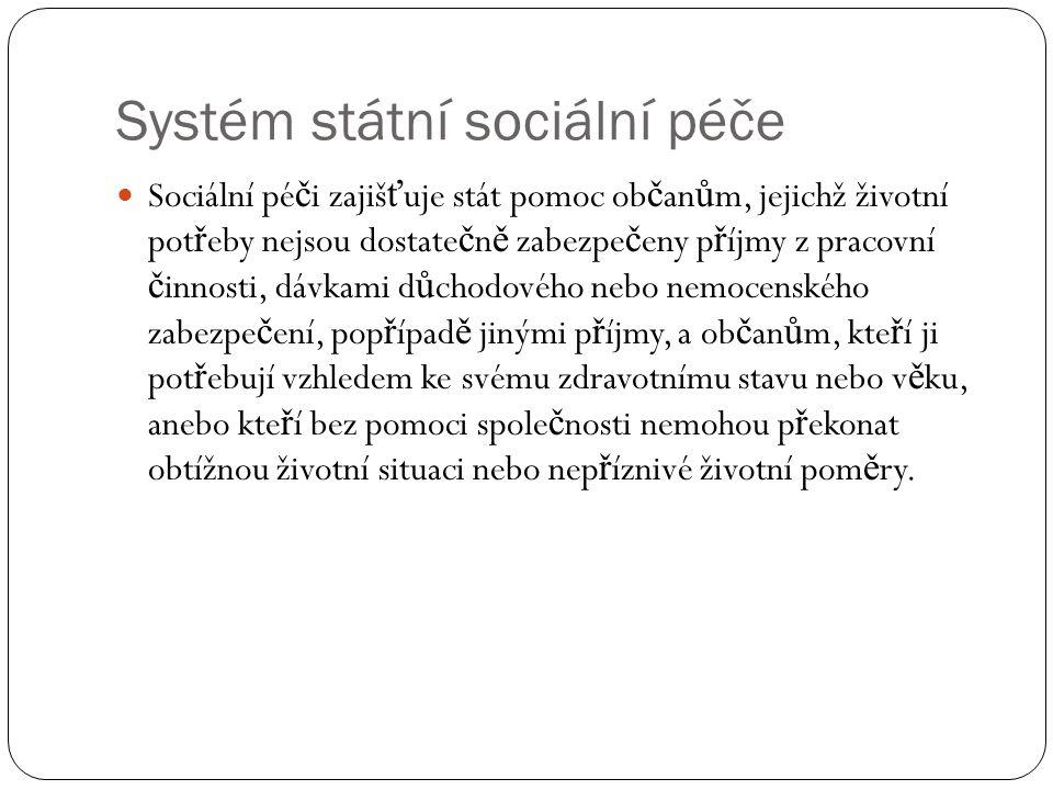 Systém státní sociální péče