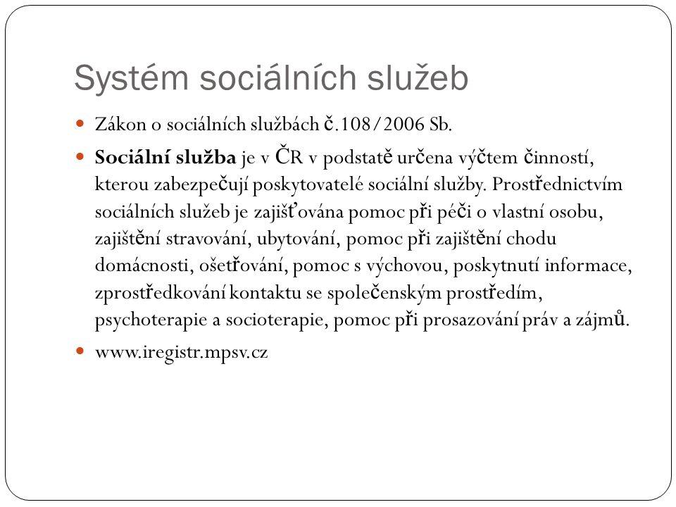 Systém sociálních služeb