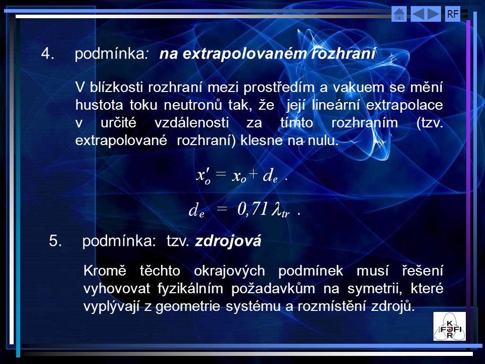 4. podmínka: na extrapolovaném rozhraní