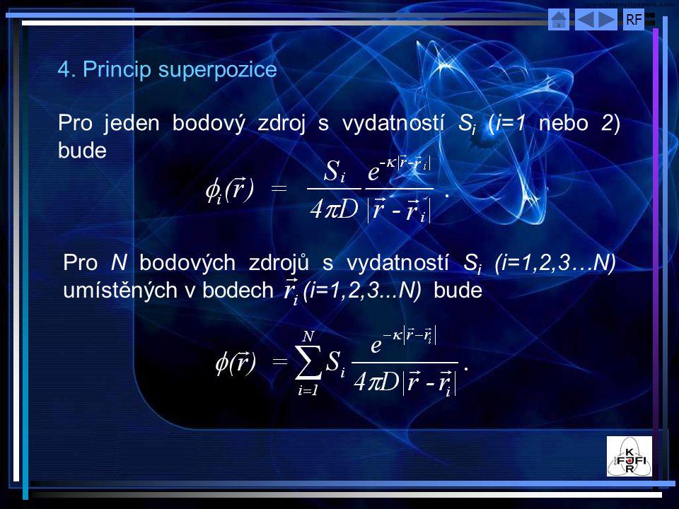 4. Princip superpozice Pro jeden bodový zdroj s vydatností Si (i=1 nebo 2) bude.
