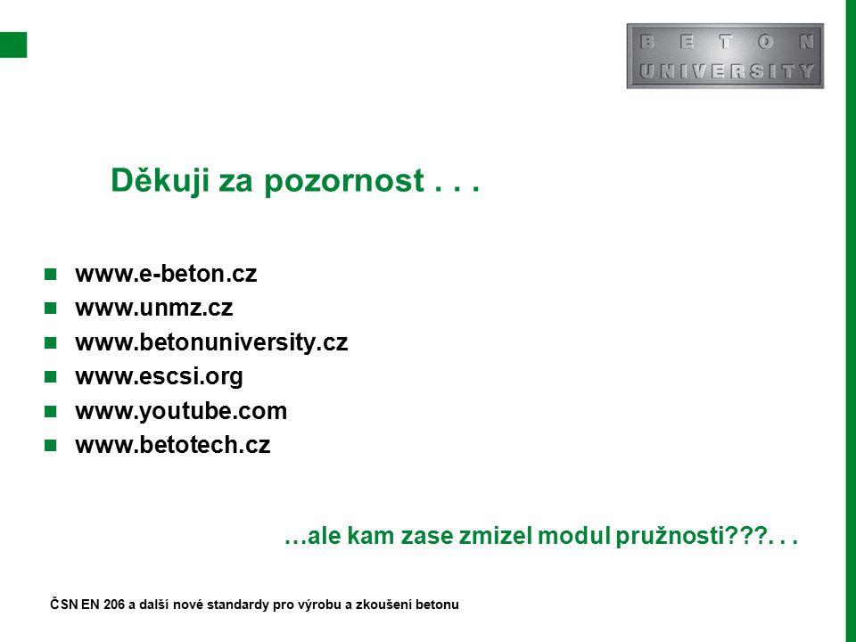 Děkuji za pozornost . . . www.e-beton.cz www.unmz.cz
