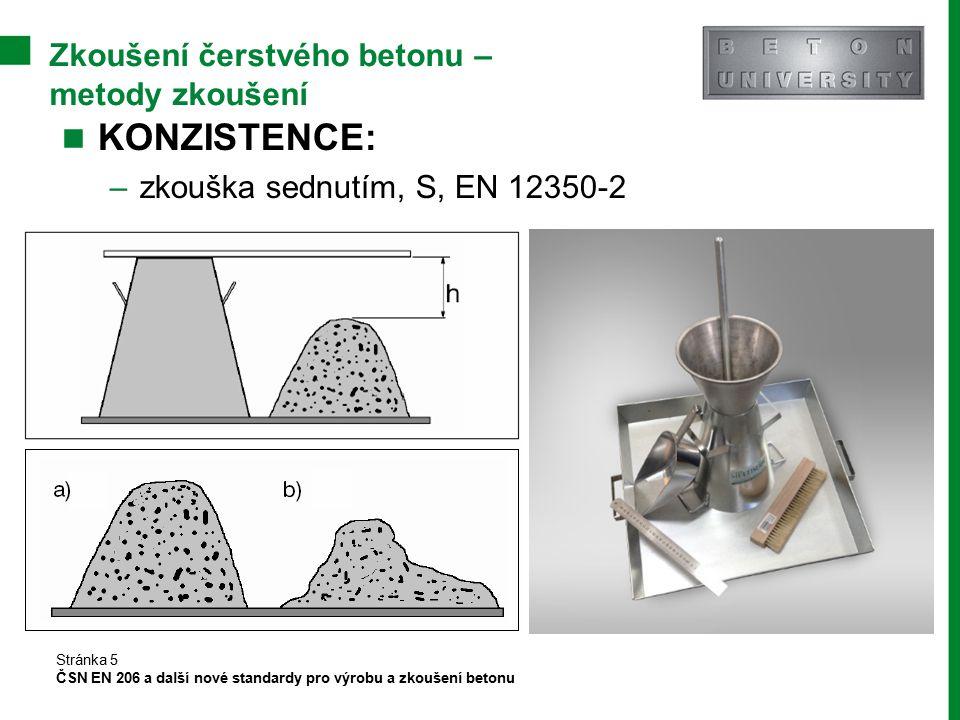 Zkoušení čerstvého betonu – metody zkoušení