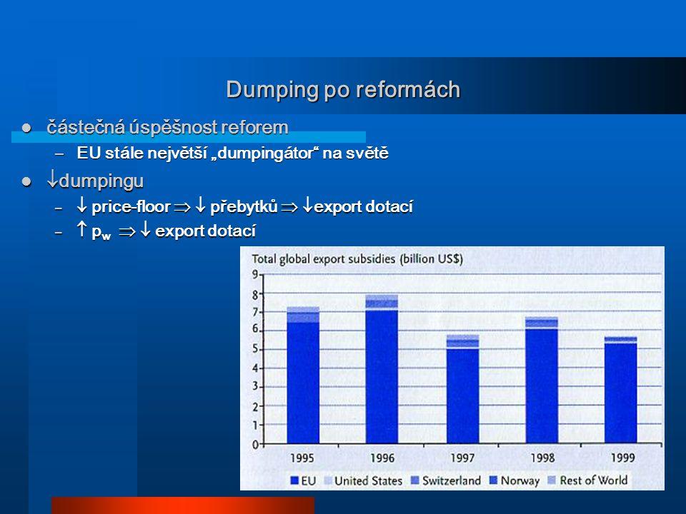 Dumping po reformách částečná úspěšnost reforem dumpingu