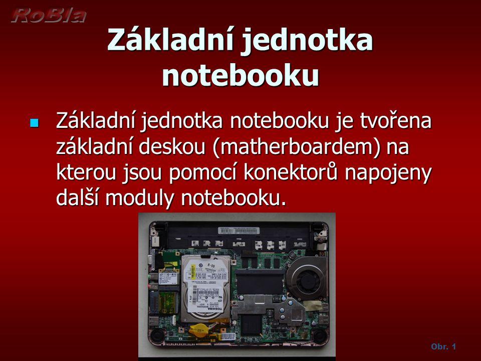 Základní jednotka notebooku