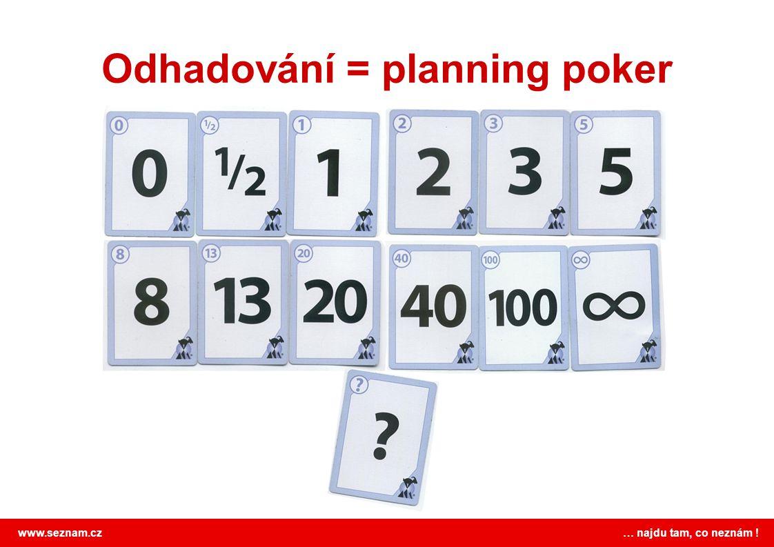 Odhadování = planning poker