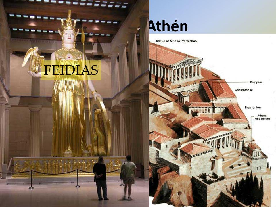 Rozkvět Athén FEIDIAS stratég PERIKLES: Athénský námořní spolek